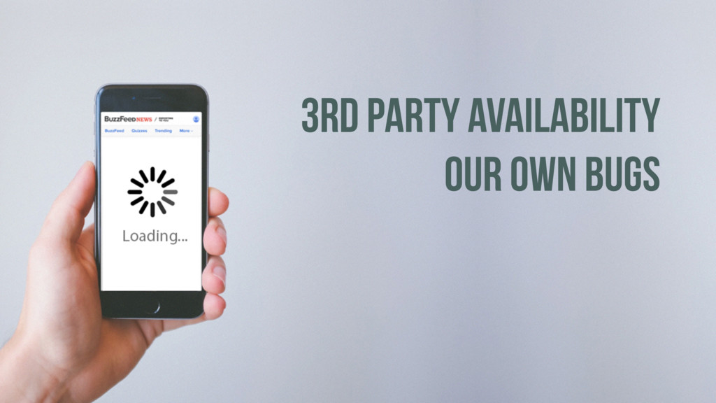 3RD PARTY AVAILABILITY OUR OWN BUGS
