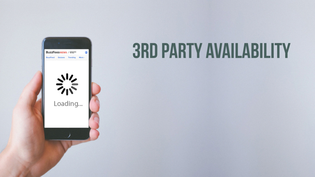 3RD PARTY AVAILABILITY