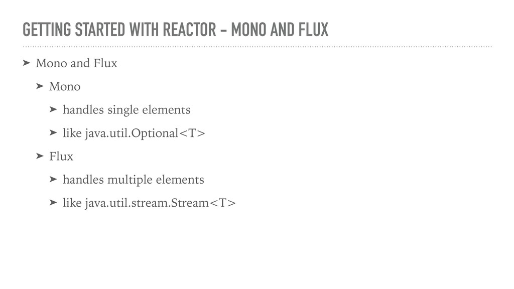 GETTING STARTED WITH REACTOR - MONO AND FLUX ➤ ...