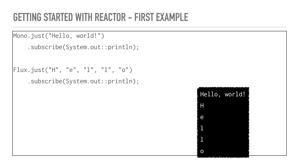 GETTING STARTED WITH REACTOR - FIRST EXAMPLE Mo...