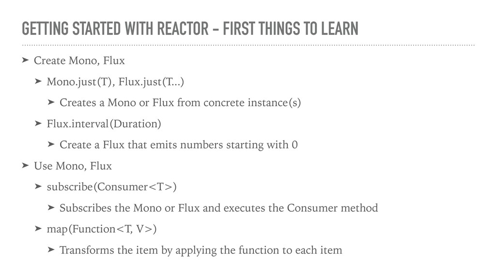 GETTING STARTED WITH REACTOR - FIRST THINGS TO ...