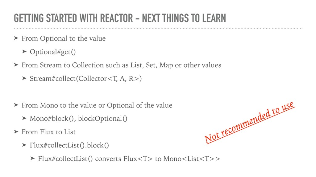 GETTING STARTED WITH REACTOR - NEXT THINGS TO L...