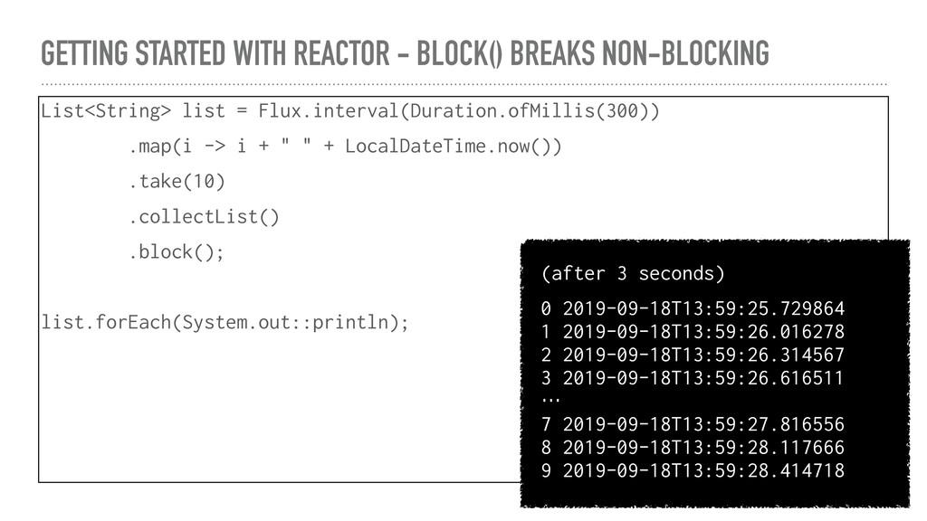 GETTING STARTED WITH REACTOR - BLOCK() BREAKS N...
