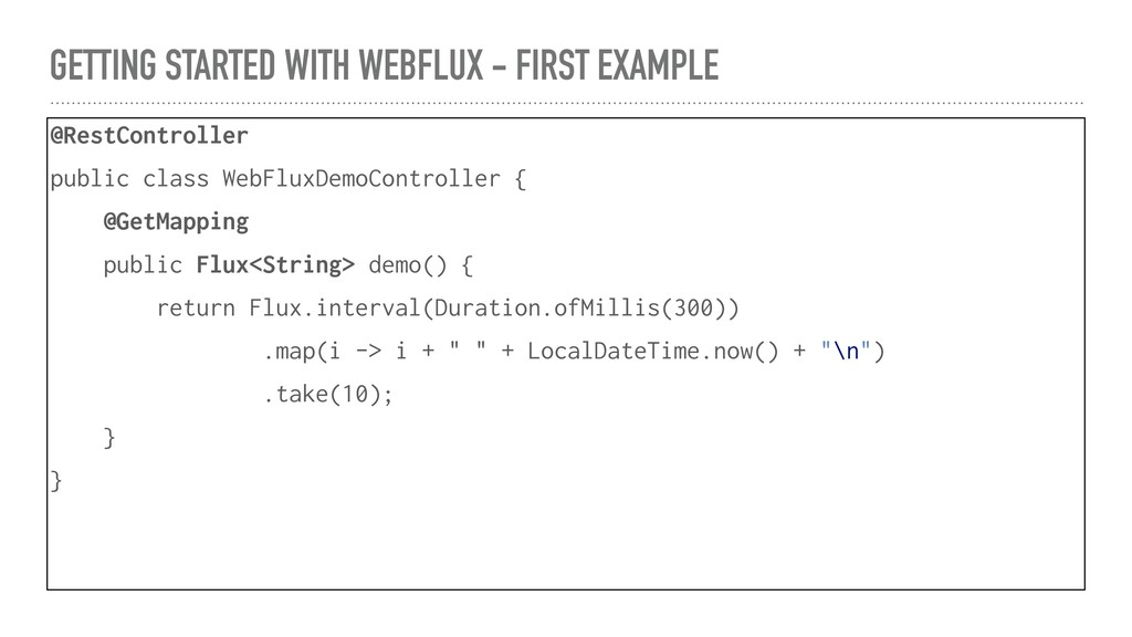 GETTING STARTED WITH WEBFLUX - FIRST EXAMPLE @R...