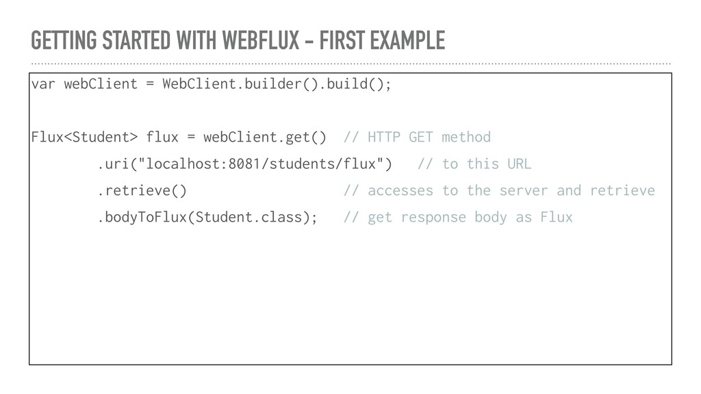 GETTING STARTED WITH WEBFLUX - FIRST EXAMPLE va...