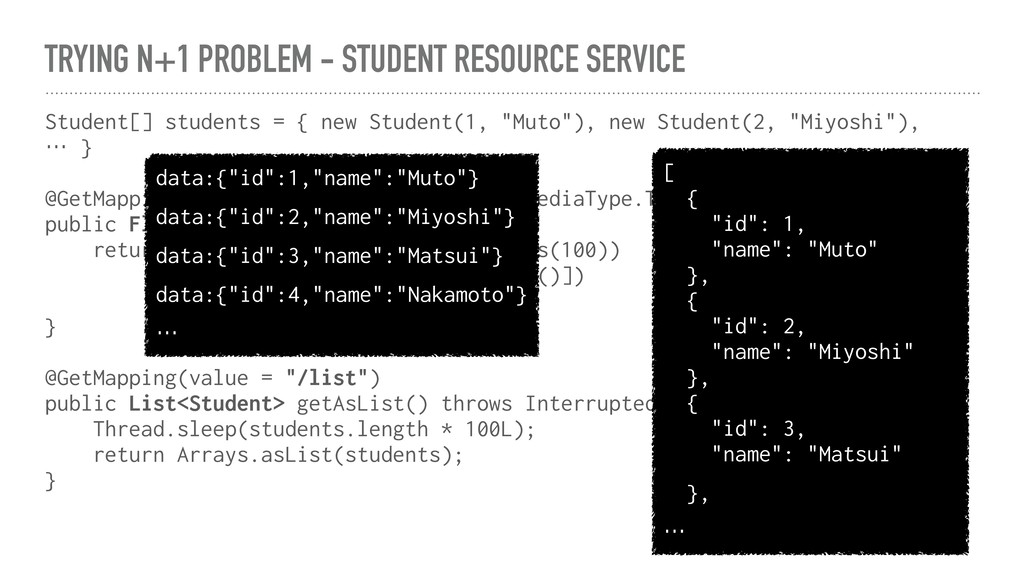 TRYING N+1 PROBLEM - STUDENT RESOURCE SERVICE S...