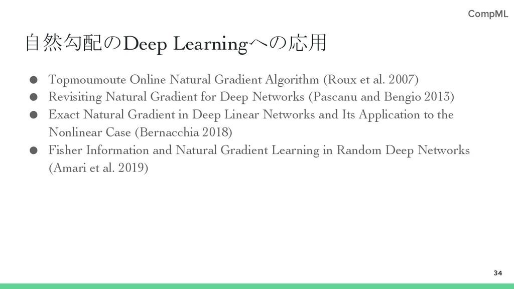 CompML 自然勾配のDeep Learningへの応用 ● Topmoumoute Onl...