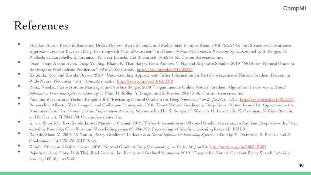 CompML References • Mishkin, Aaron, Frederik Ku...