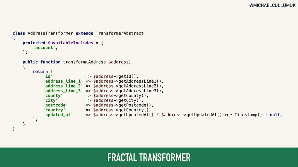 @MICHAELCULLUMUK FRACTAL TRANSFORMER class Addr...
