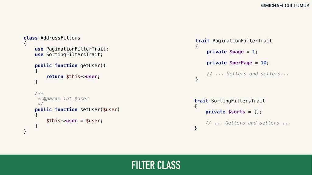 @MICHAELCULLUMUK FILTER CLASS class AddressFilt...