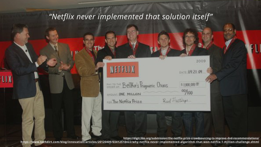 """""""Netflix never implemented that solution itself..."""