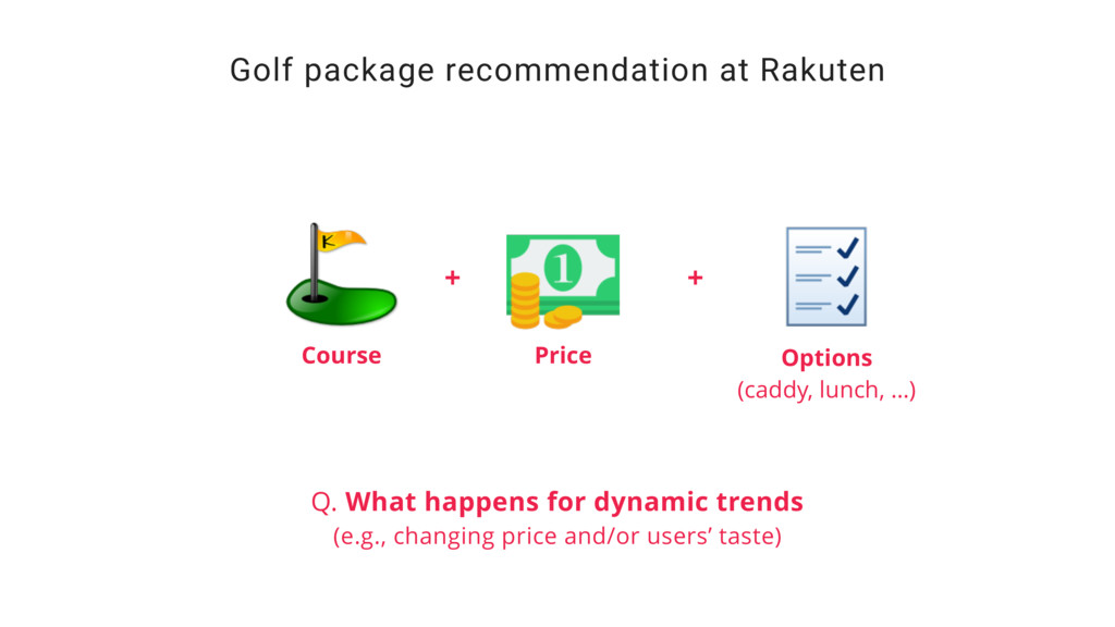 Golf package recommendation at Rakuten Course P...