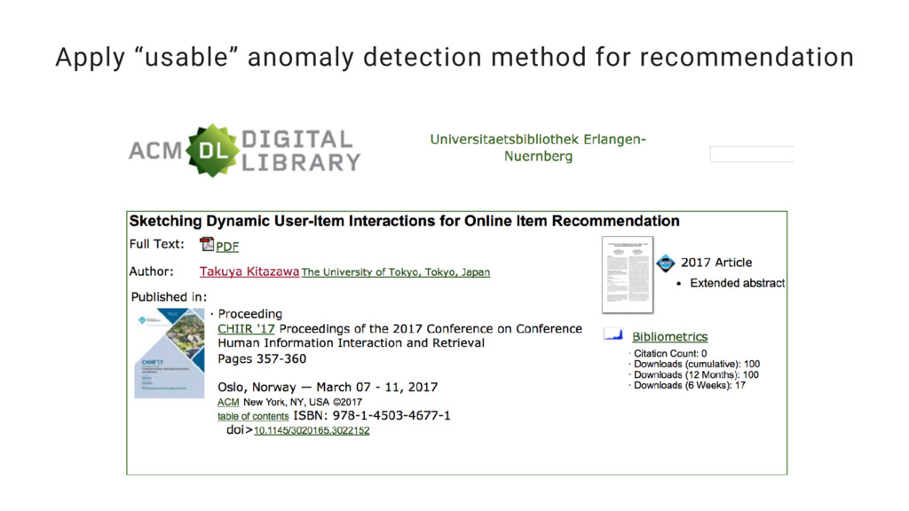 """Apply """"usable"""" anomaly detection method for rec..."""