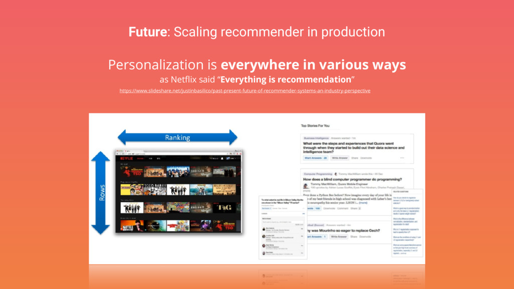 Future: Scaling recommender in production Perso...