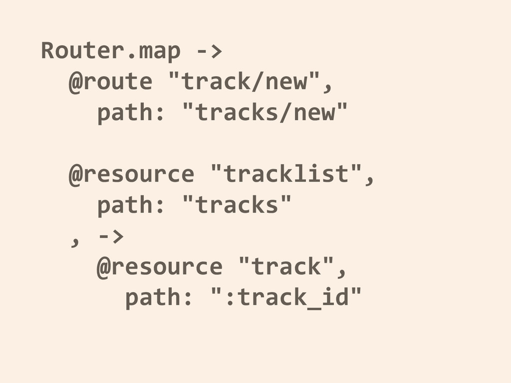 "Router.map -> @route ""track/new"", path: ""tracks..."