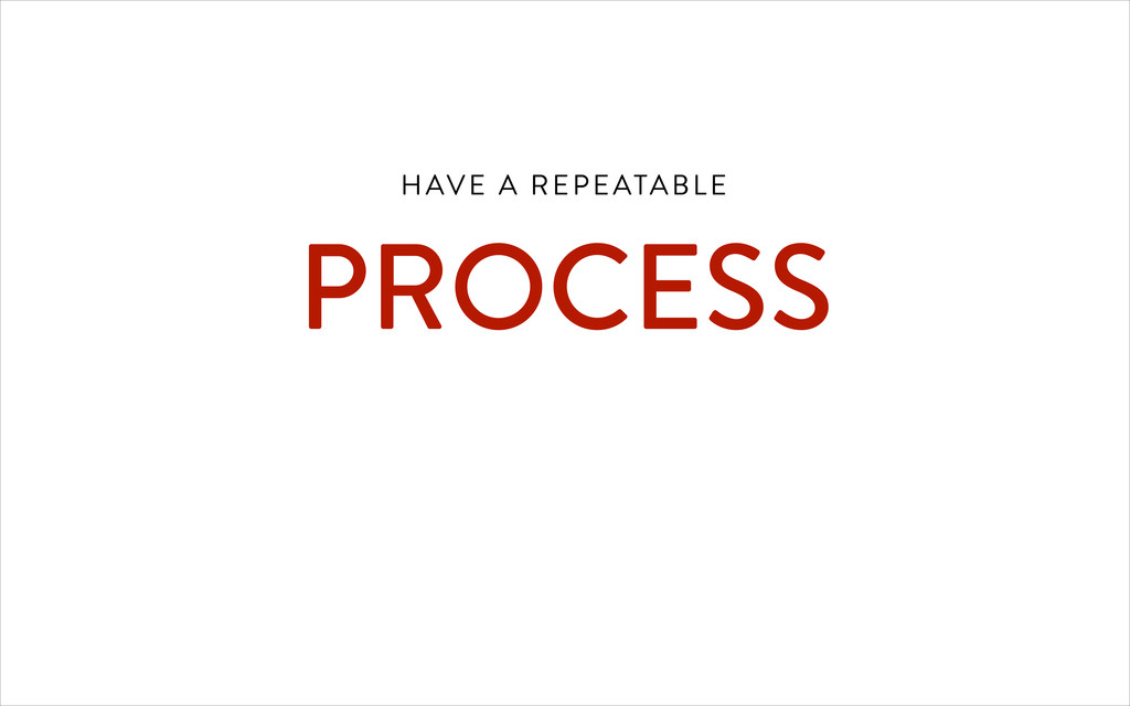 HAVE A REPEATABLE 