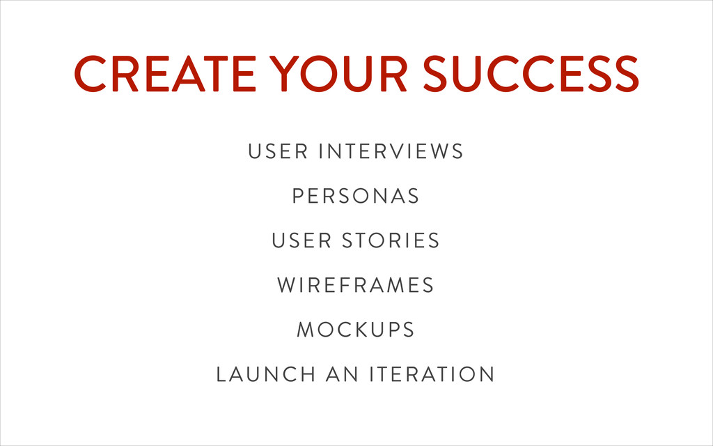 CREATE YOUR SUCCESS USER INTERVIEWS PERSONAS US...