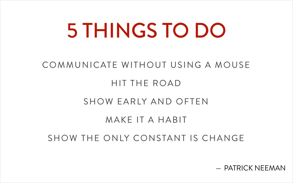 5 THINGS TO DO COMMUNICATE WITHOUT USING A MOUS...