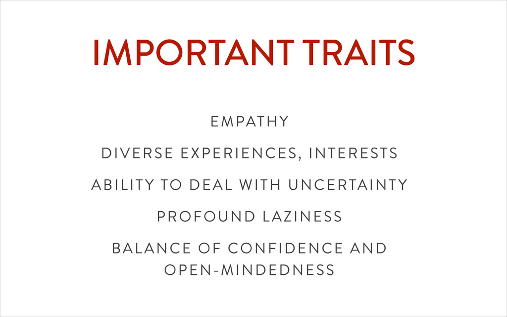 IMPORTANT TRAITS EMPATHY DIVERSE EXPERIENCES, I...