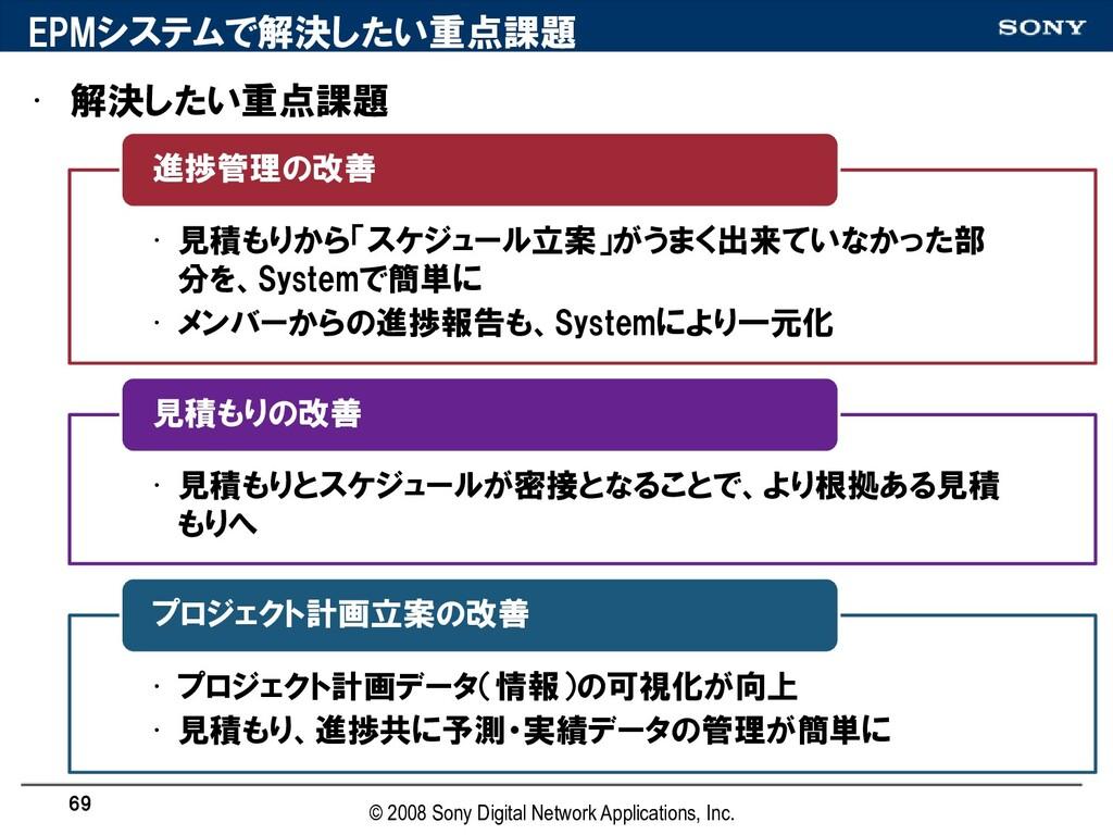 EPMシステムで解決したい重点誯題 • 解決したい重点誯題 • 見積もりから「スケジュール立案...