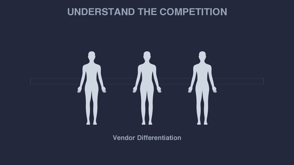 UNDERSTAND THE COMPETITION Vendor Differentiati...
