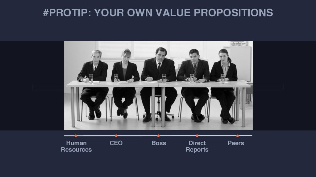 #PROTIP: YOUR OWN VALUE PROPOSITIONS Human Reso...