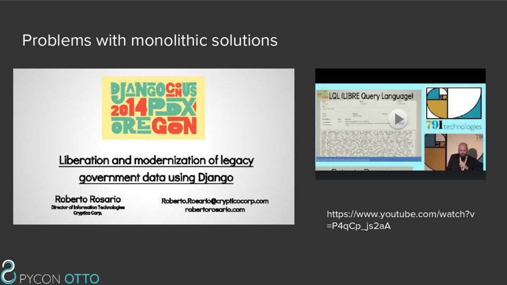 Problems with monolithic solutions https://www....