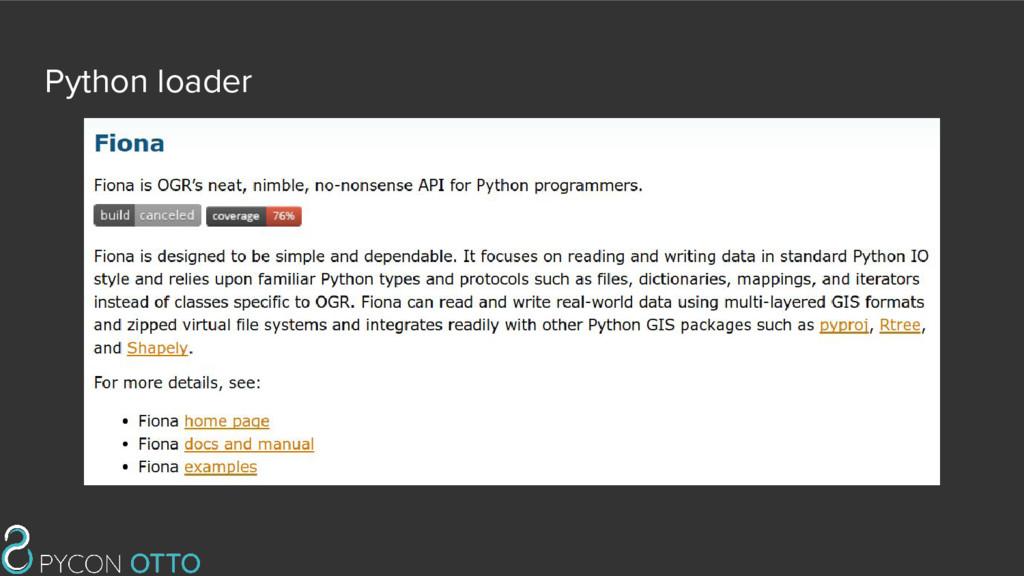Python loader
