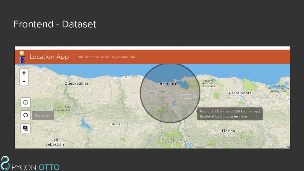 Frontend - Dataset