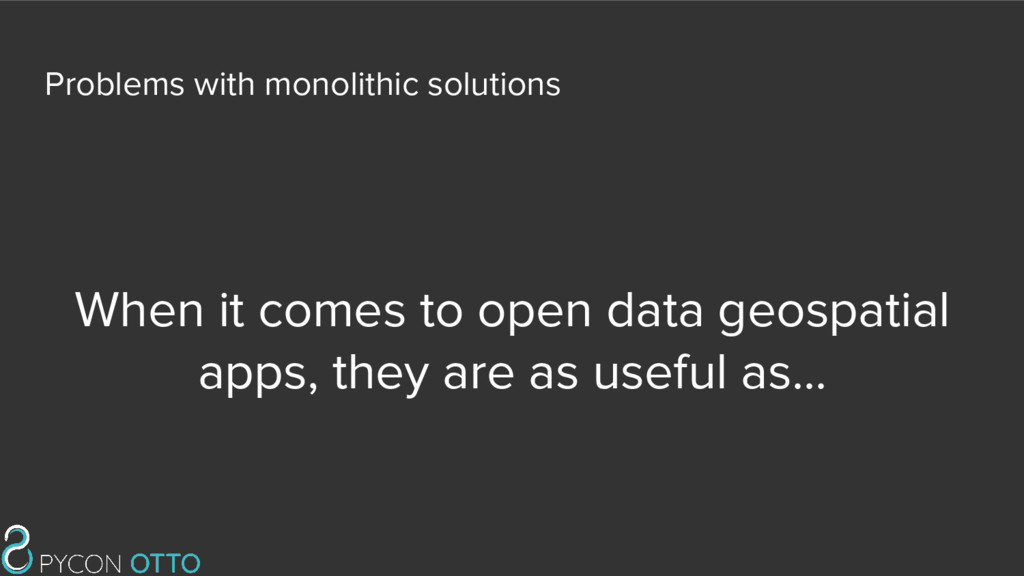 When it comes to open data geospatial apps, the...