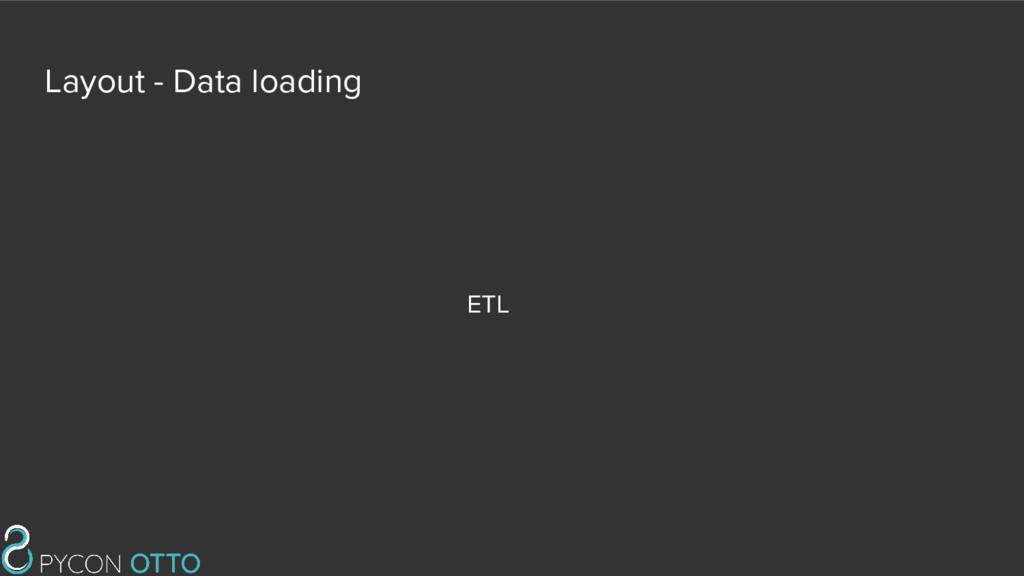 Layout - Data loading ETL