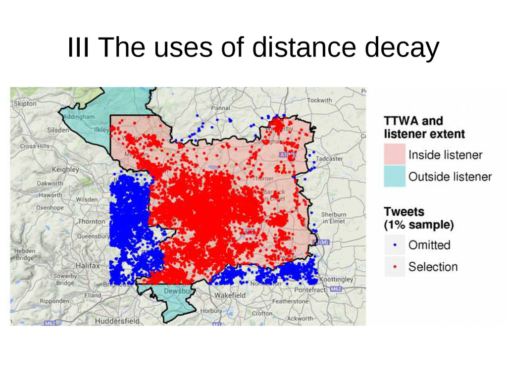 III The uses of distance decay