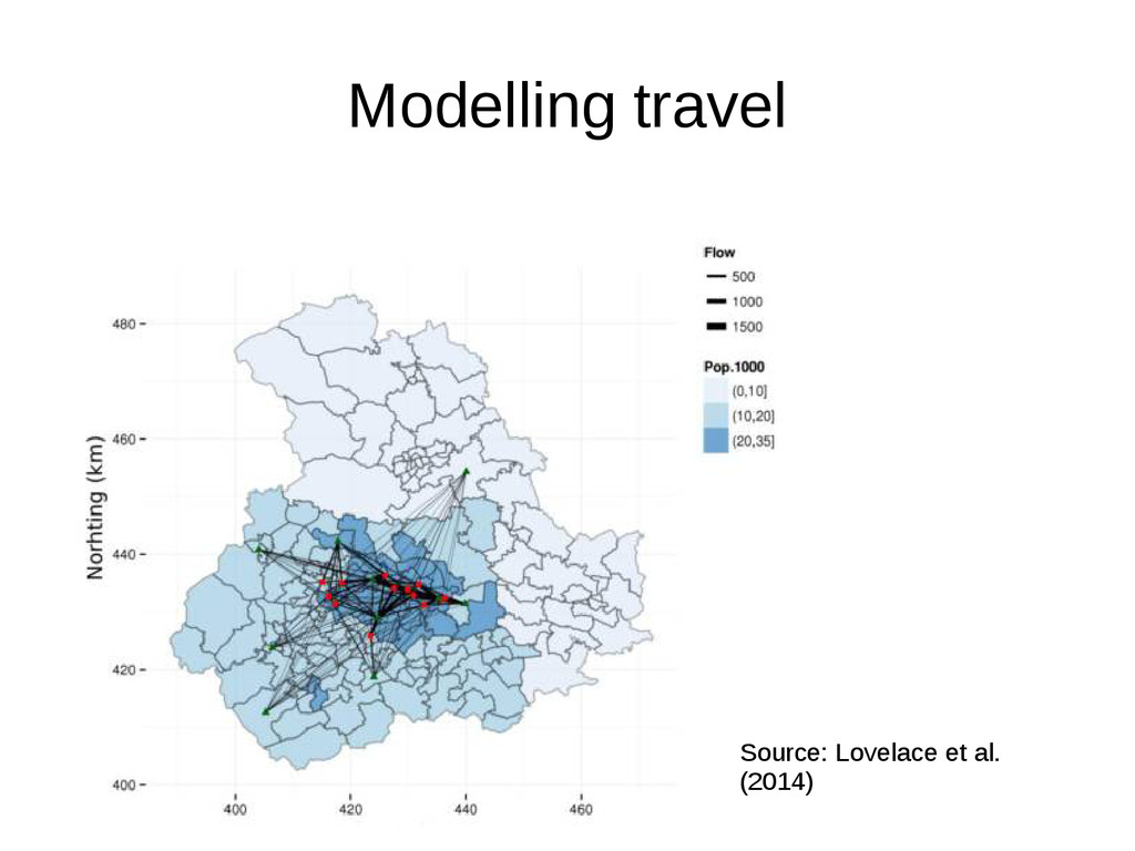 Modelling travel Source: Lovelace et al. (2014)