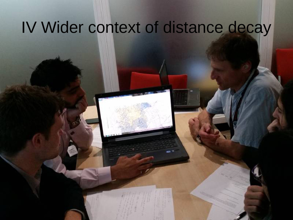 IV Wider context of distance decay