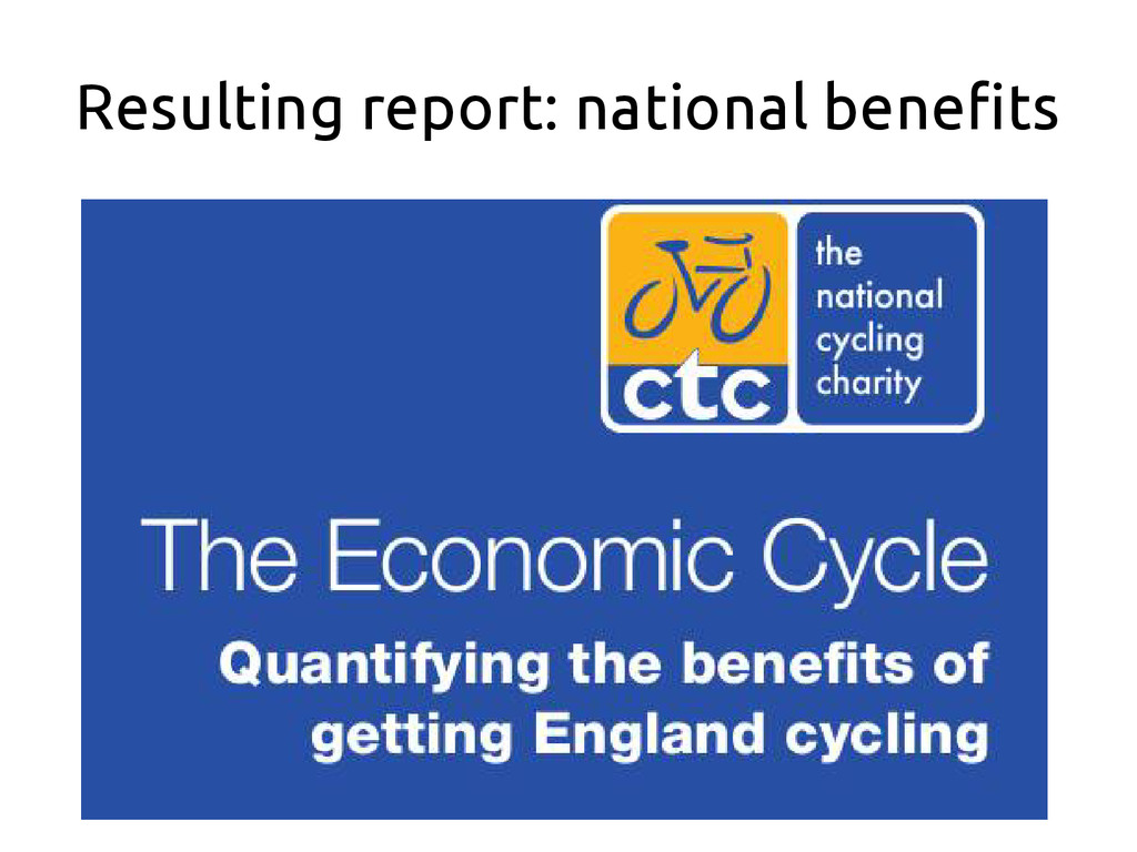 Resulting report: national benefits