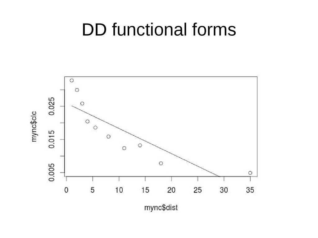 DD functional forms