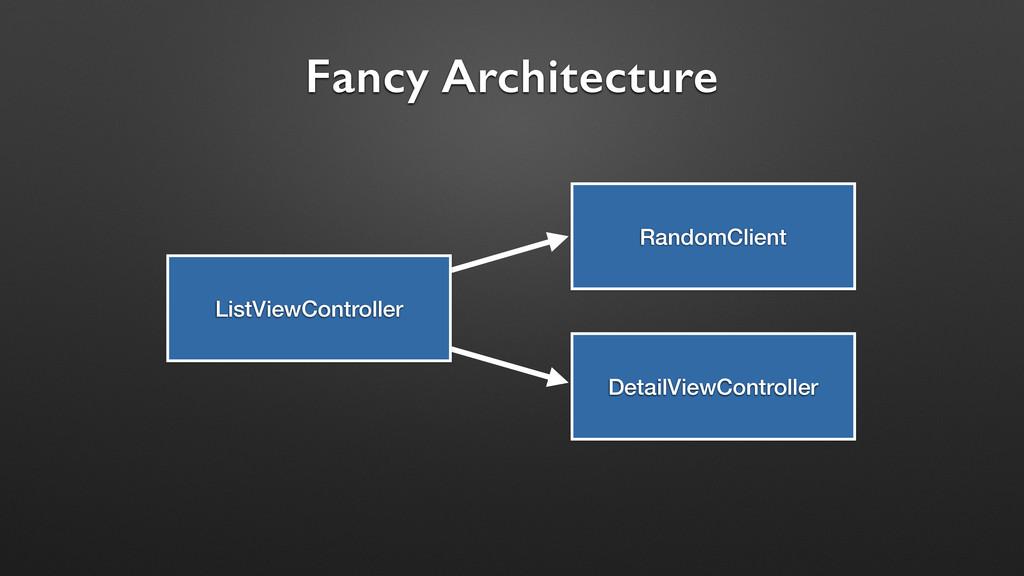 Fancy Architecture ListViewController RandomCli...