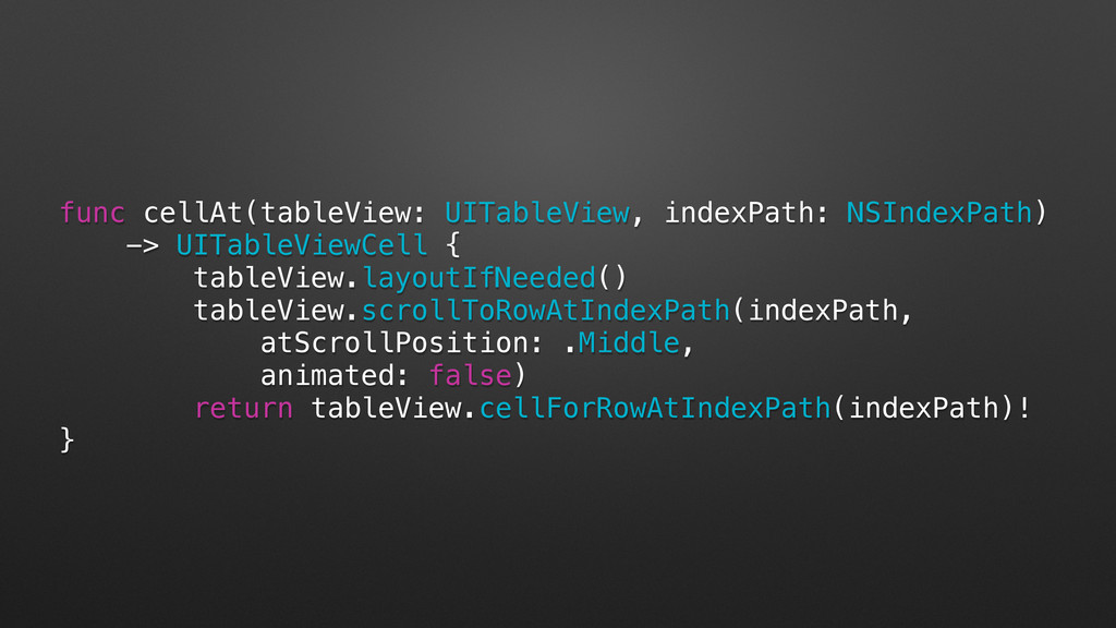 func cellAt(tableView: UITableView, indexPath: ...