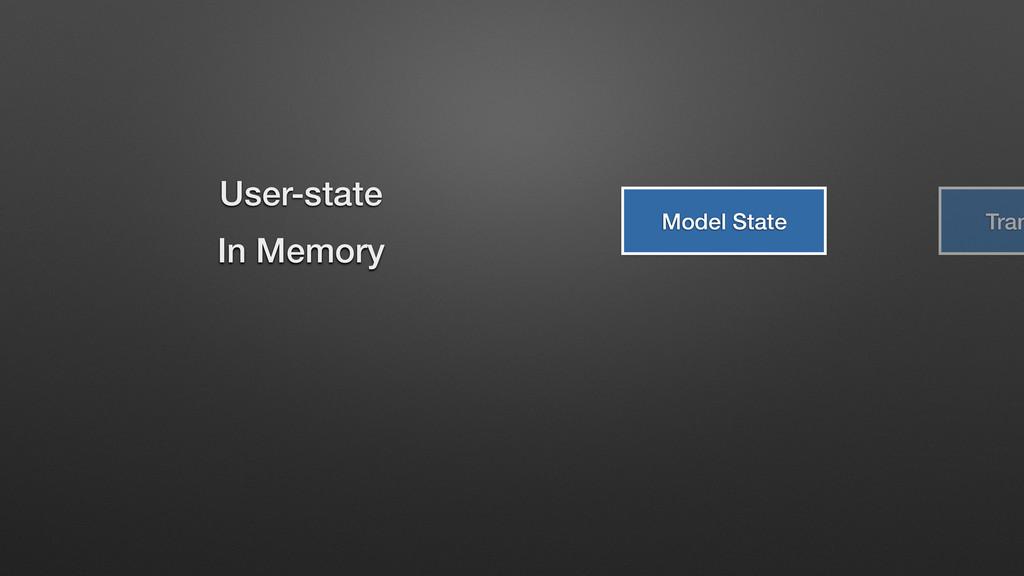 Model State Tran User-state In Memory