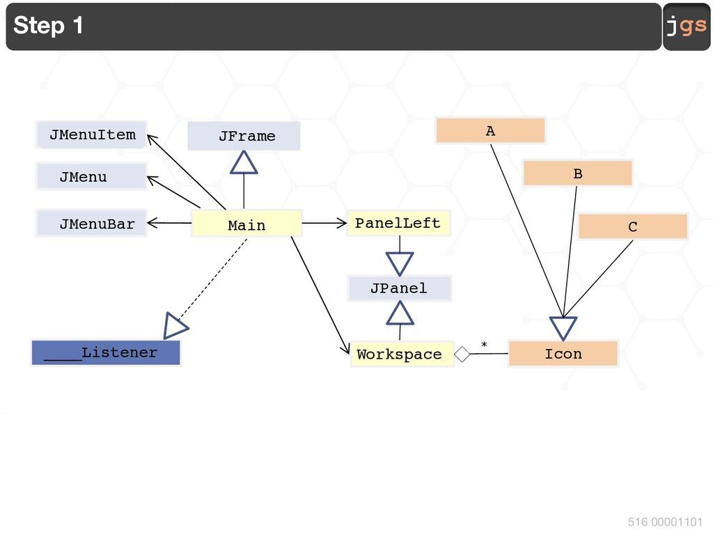 jgs 516 00001101 Step 1 PanelLeft JMenuBar Main...
