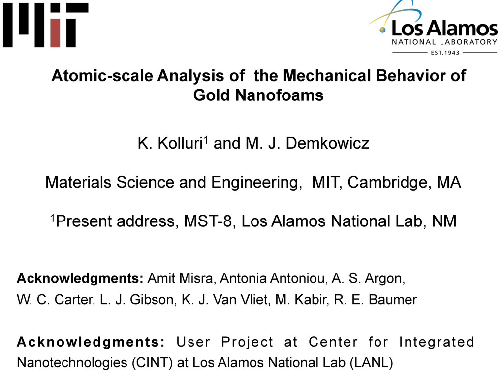 Atomic-scale Analysis of the Mechanical Behavio...