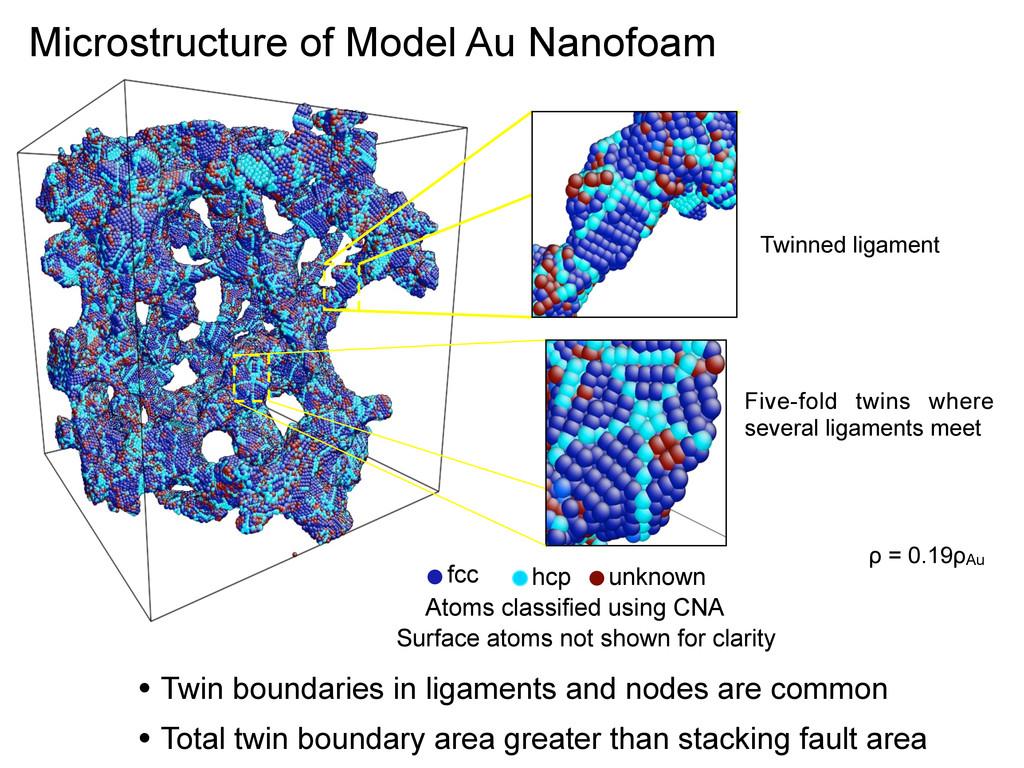 Microstructure of Model Au Nanofoam Five-fold t...