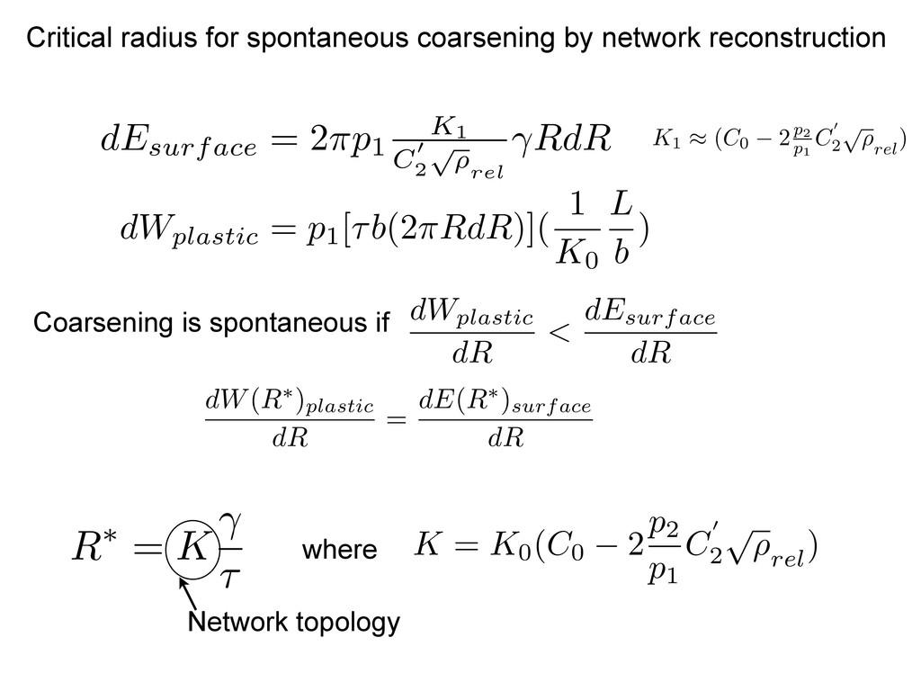 Critical radius for spontaneous coarsening by n...