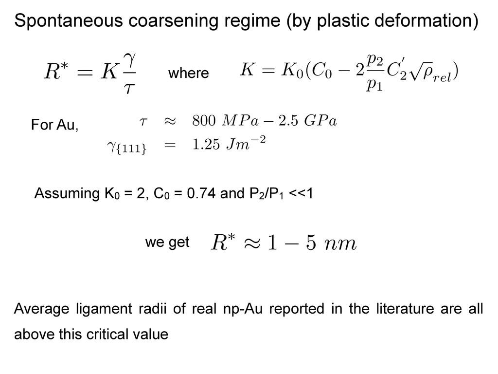 Spontaneous coarsening regime (by plastic defor...