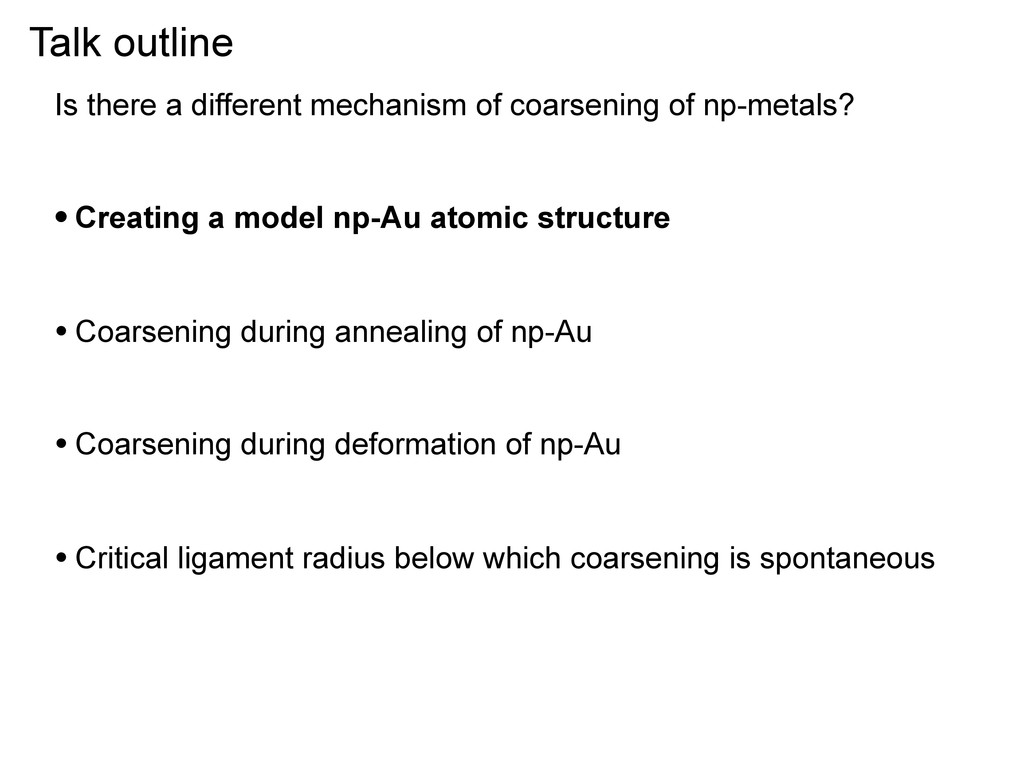 Talk outline Is there a different mechanism of ...