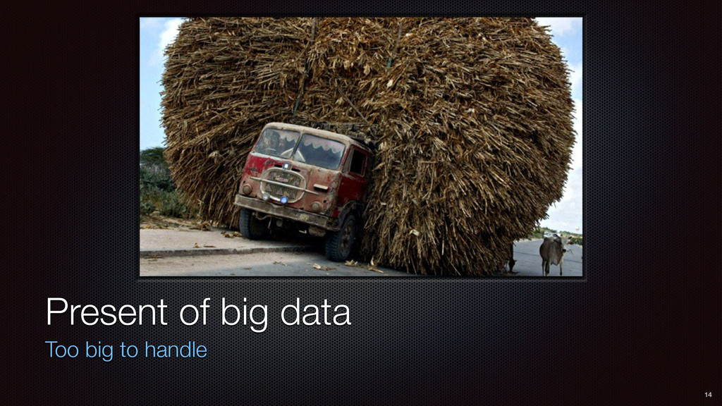 Present of big data Too big to handle 14