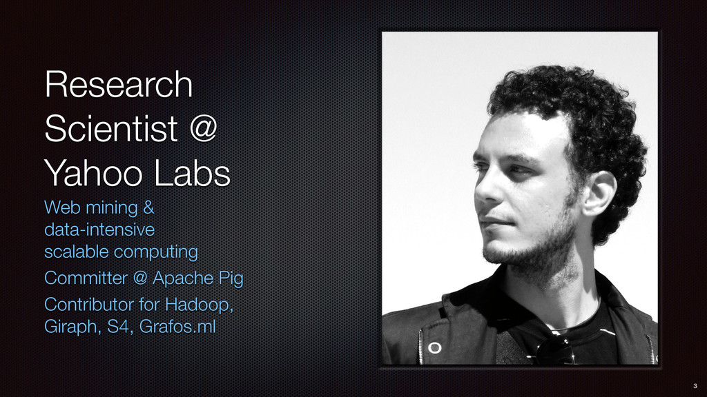 Research Scientist @ Yahoo Labs Web mining & 