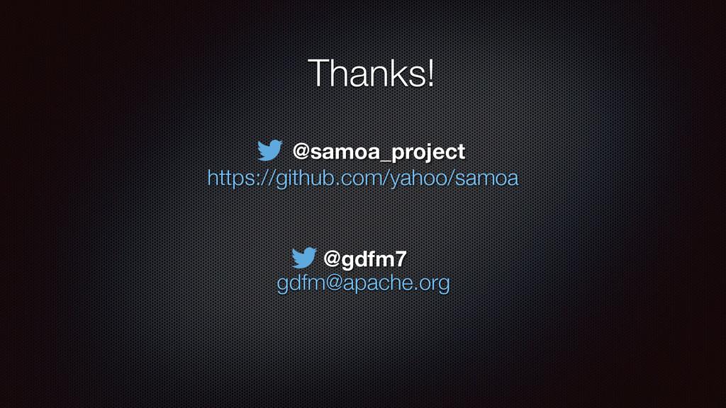 Thanks! ! gdfm@apache.org https://github.com/ya...