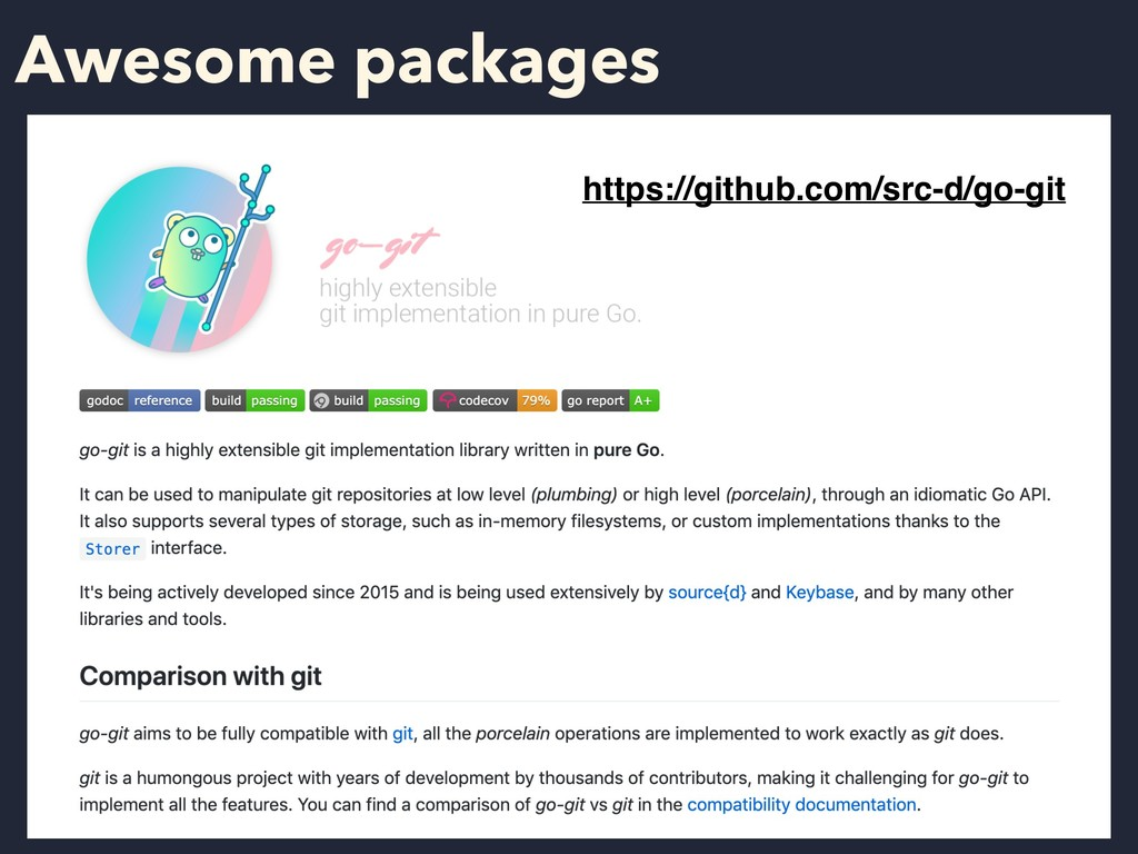 Awesome packages https://github.com/src-d/go-git