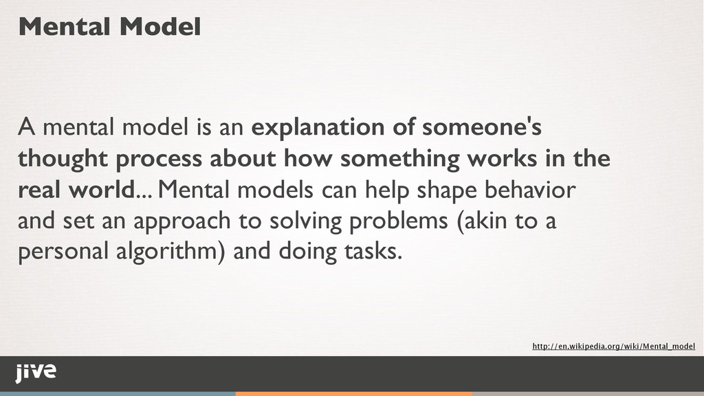 Mental Model A mental model is an explanation o...